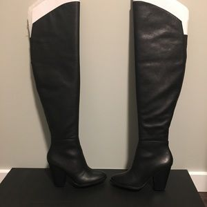Steven by Steve Madden Over The Knee Leather Boots